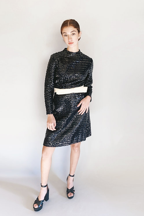 Anne Fogarty Sequin Cocktail Dress