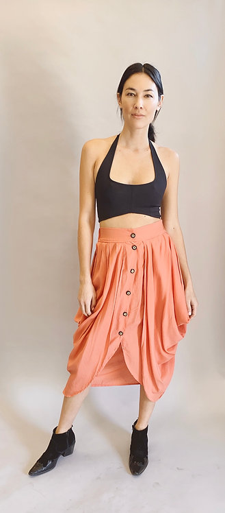 80's Structural Peach Skirt