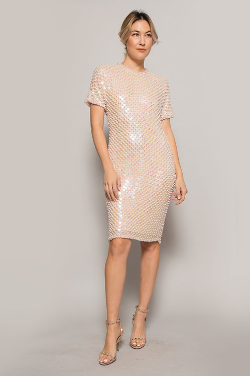 Pearl and Silk Cocktail Dress