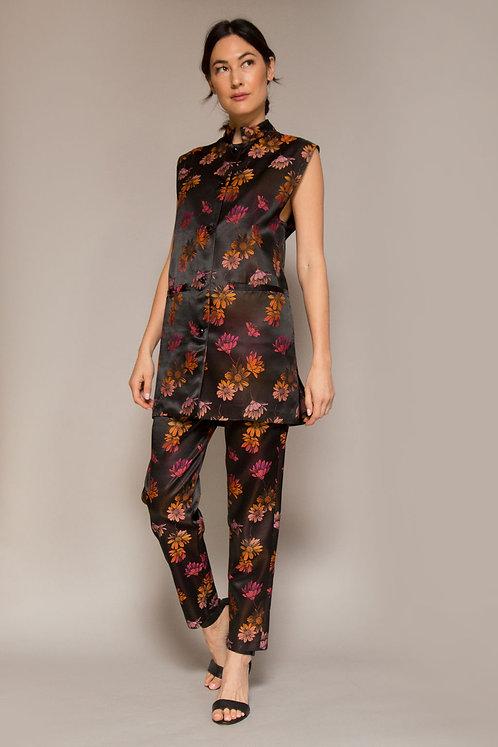1990's Anna Sui Floral Silk Set