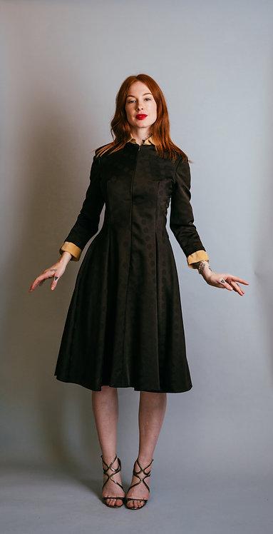 70's Geoffrey Beene Boutique PeterPan Collar Dress