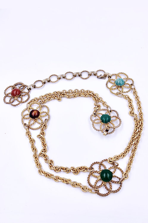 70s YSL Cabochon Chain Belt