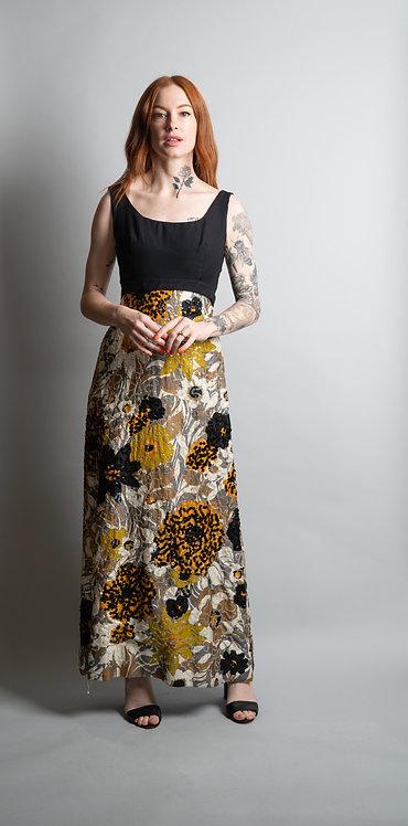 60's Bunwit Teller Floral Print with Sequin Dress