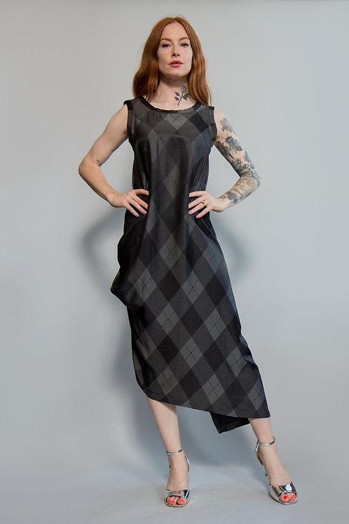 Issey Miyake Plaid Dress