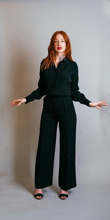 Anne Klein Wool Jumpsuit