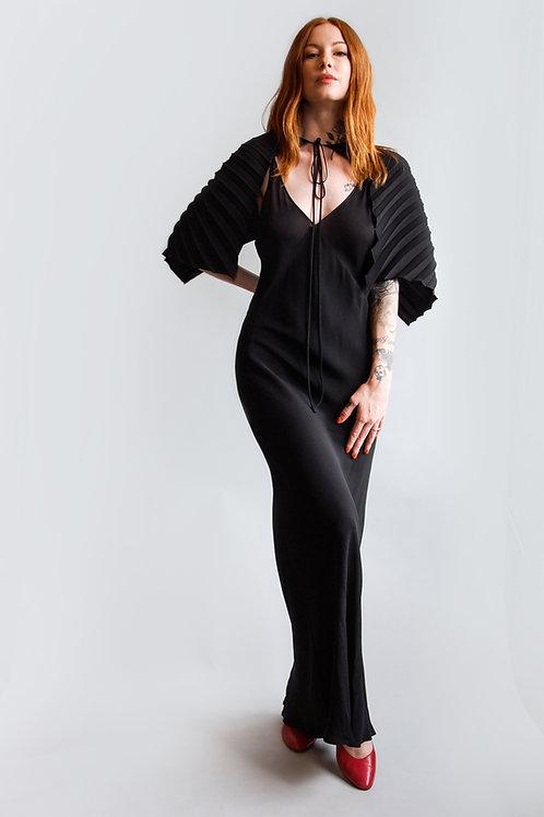 Vintage 1990s Jean Paul Gaultier Black Slip Dress