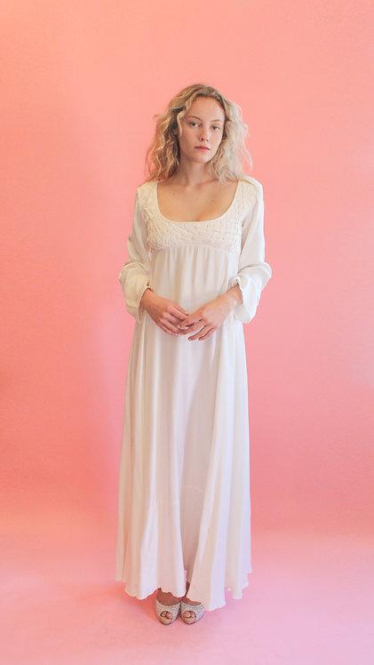 Jane Booke Woven Empire Waist Gown