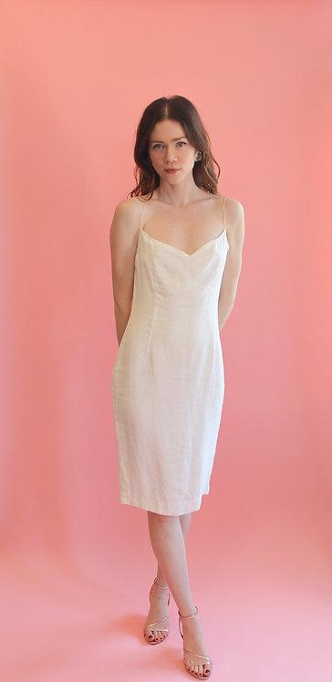 Jane Booke White Cotton Dress