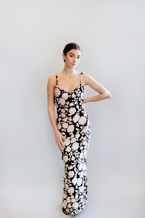 Versus by Gianni Versace Silk Velvet Ombre Slip Dress