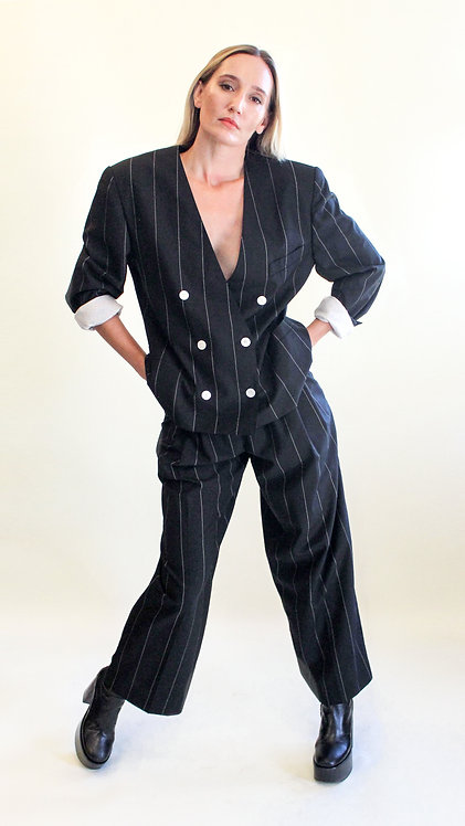 Escada Pinstripe Suit