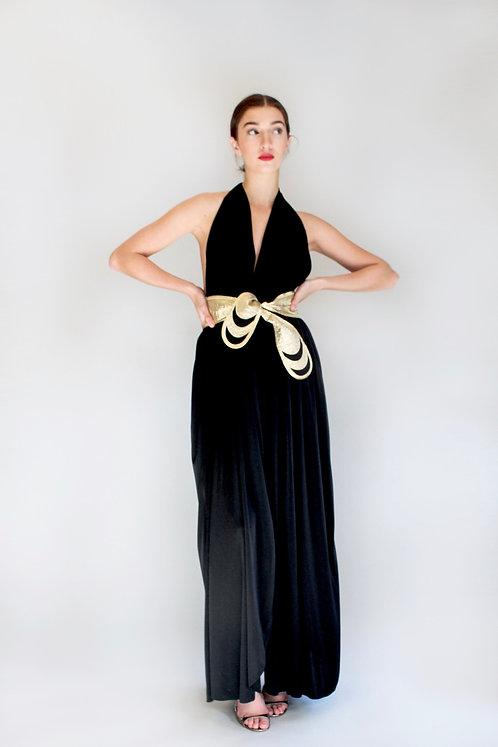 70's Bill Tice Jersey Halter Dress