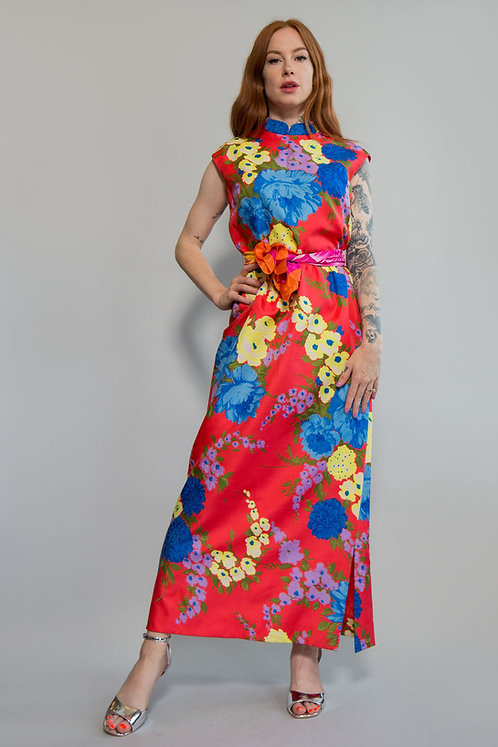 60s Floral Adele Simpson Dress