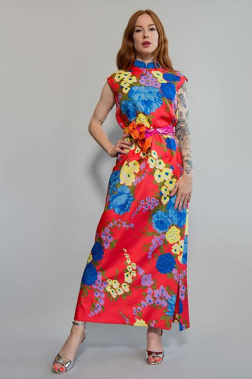 60s Floral Adele Simpson Dress