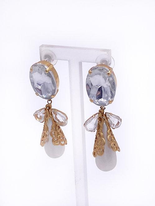Snowflake Pearl Drop Earrings