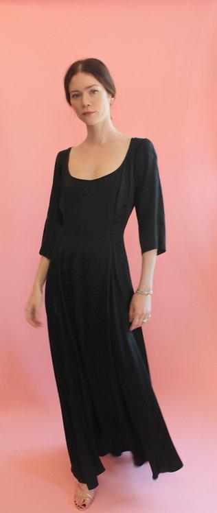 Jane Booke Black Silk Play Dress