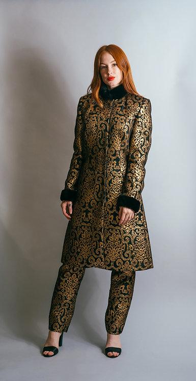 Gold Brocade Jacket and Pant Set