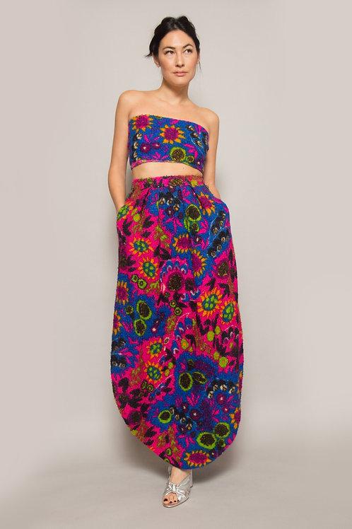VTG Pierre Cardin Floral Skirt & Scarf Set