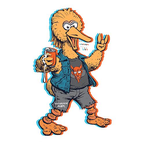Big Punk Bird - T-Shirt