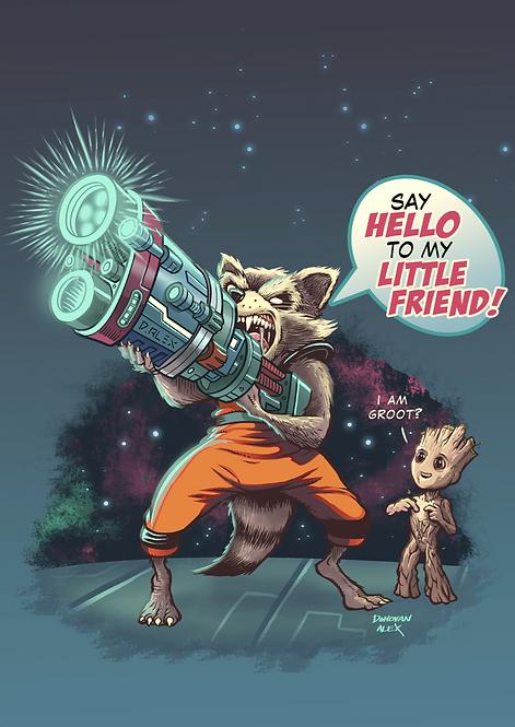 Quoting Raccoon - Print