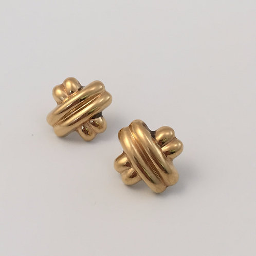Vintage 14K Yellow Gold Earrings