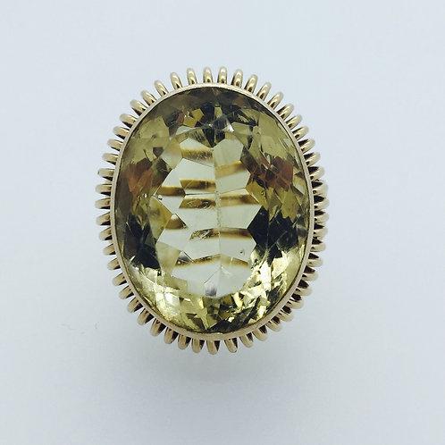 Vintage Smoky Quartz Ring/w Diamonds