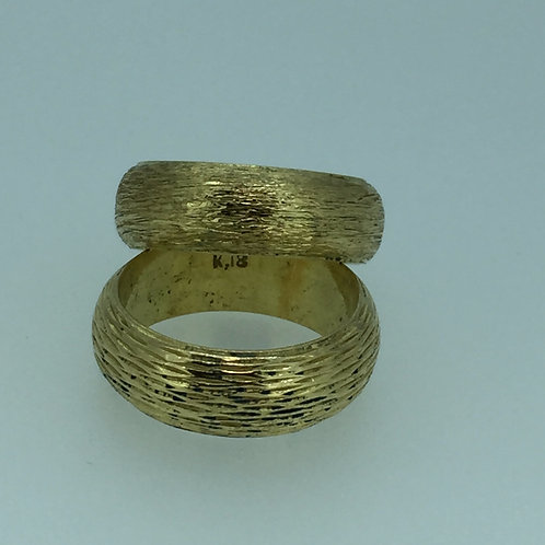 18K Stackable Yellow Gold Rings