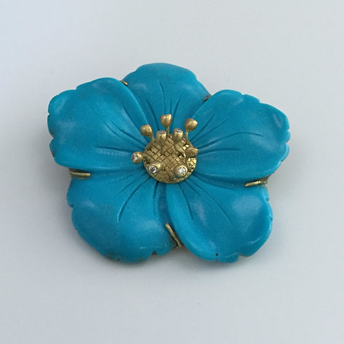 Vintage Persian Turquoise Brooch