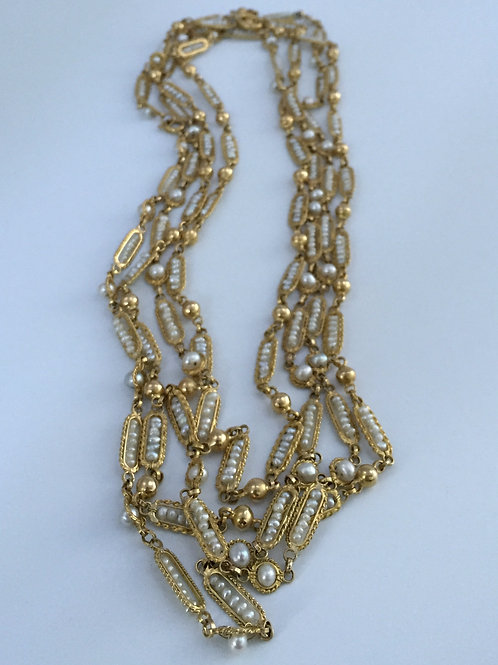 Vintage Handmade 18K Yellow Gold Necklace