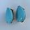 Thumbnail: Pear-shape Turquoise Clip Earrings