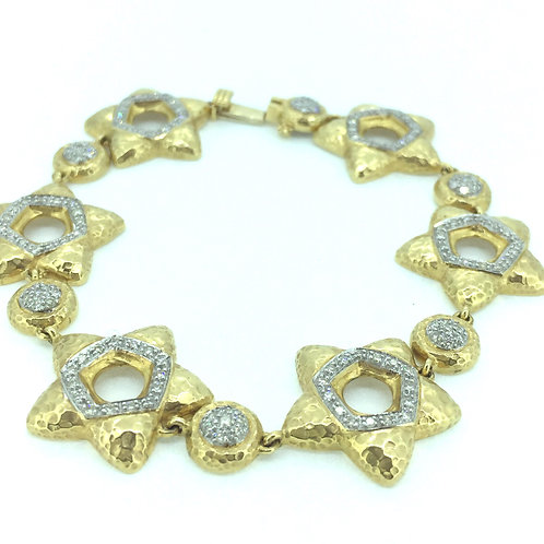 Exceptional 18K Gold and Diamond Bracelet