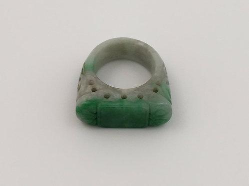 Vintage Carved Jade Ring
