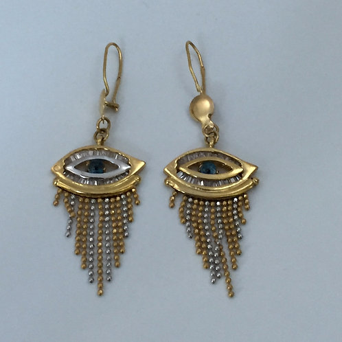 18K Yellow Gold Egyptian Earrings