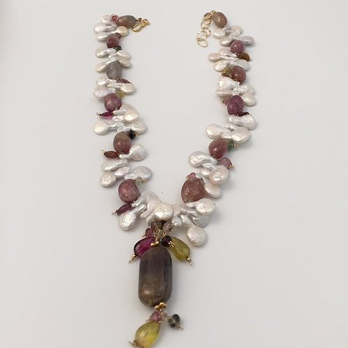 Freshwater White Pearls Necklace