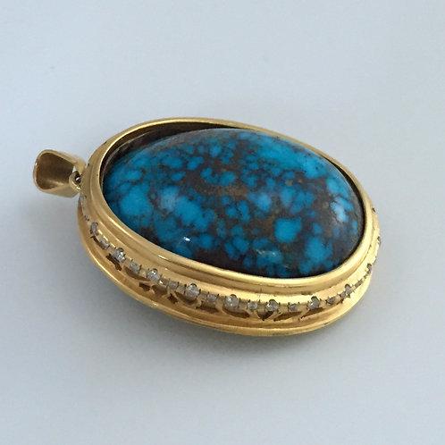 Vintage Persian Turquoise Pendant
