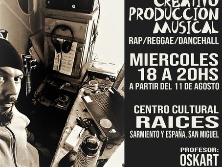 Taller creativo de Produccion Musical. RAP/REGGAE/DANCEHALL. Profesor OSKART
