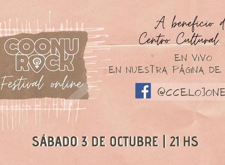 """Festival Online en apoyo al Centro Cultural Raíces. """"COONUROCK"""""""