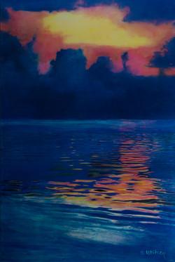 Sunset off 7 Mile Beach