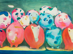 Piggies at Market