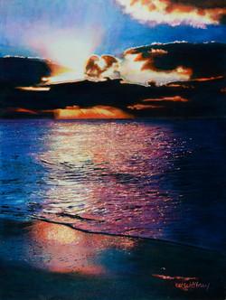 Last Light on 7 Mile Beach
