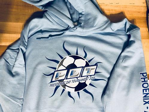 PDT Sunray Logo'd Light Blue-Hoodie