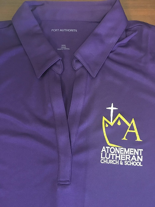 Atonement Logo'd Ladies Silk Touch™ Performance Polo