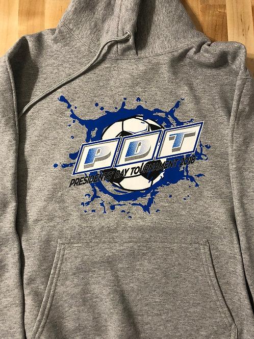 PDTAbstract Logo'd Grey-Hoodie