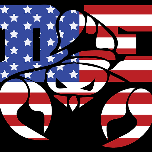 DE Flag Metallic Scorpion Logo T-Shirt