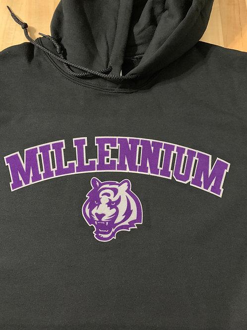 Millennium Logo'd Hooded Sweatshirt - Black
