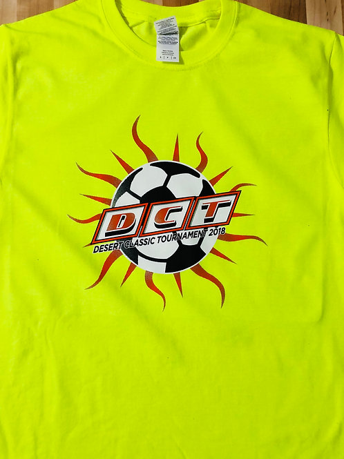 DCT Saftey Green T-Shirt with Sunray Logo