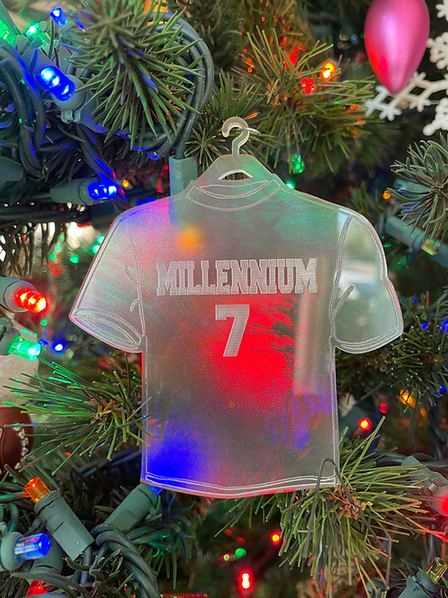 Custom Jersey Christmas Ornament
