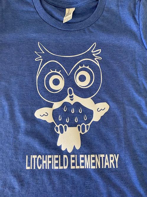 Litchfield Elementary Owl Youth Girls Logo'd Shirt