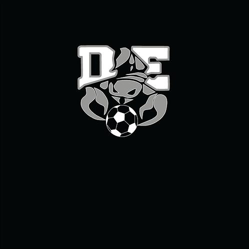 Two Color DE Soccer Logo on Gildan Performance T-Shirt