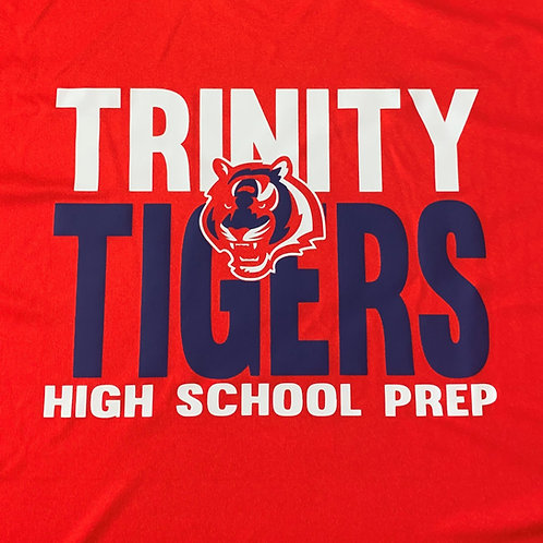 Trinity Heavy Cotton High School Prep Logo'd T-Shirt