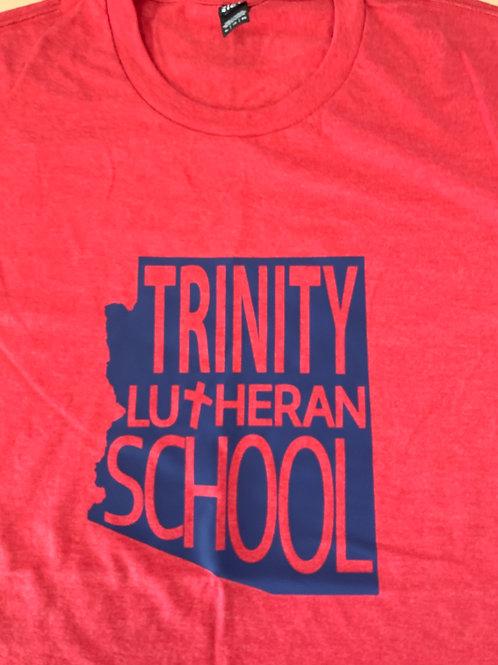 Trinity Unisex Tri-Blend State Logo Tee